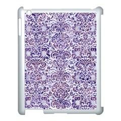 Damask2 White Marble & Purple Marble (r) Apple Ipad 3/4 Case (white) by trendistuff