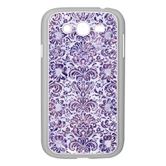 Damask2 White Marble & Purple Marble (r) Samsung Galaxy Grand Duos I9082 Case (white) by trendistuff