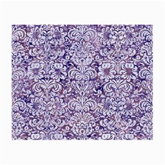 Damask2 White Marble & Purple Marble Small Glasses Cloth by trendistuff