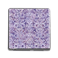 Damask2 White Marble & Purple Marble Memory Card Reader (square) by trendistuff