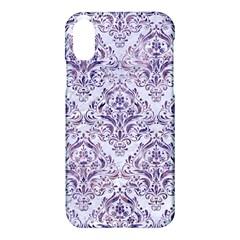 Damask1 White Marble & Purple Marble (r) Apple Iphone X Hardshell Case