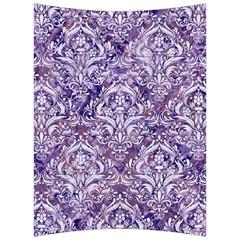 Damask1 White Marble & Purple Marble Back Support Cushion
