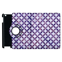 Circles3 White Marble & Purple Marble (r) Apple Ipad 3/4 Flip 360 Case