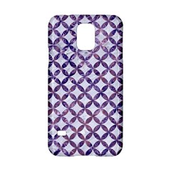 Circles3 White Marble & Purple Marble (r) Samsung Galaxy S5 Hardshell Case
