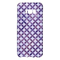 Circles3 White Marble & Purple Marble (r) Samsung Galaxy S8 Plus Hardshell Case