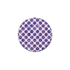 Circles2 White Marble & Purple Marble (r) Golf Ball Marker (4 Pack) by trendistuff