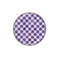 Circles2 White Marble & Purple Marble (r) Hat Clip Ball Marker (10 Pack) by trendistuff