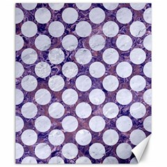 Circles2 White Marble & Purple Marble Canvas 20  X 24   by trendistuff