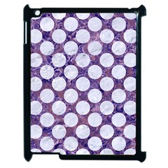 Circles2 White Marble & Purple Marble Apple Ipad 2 Case (black) by trendistuff