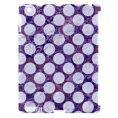 Circles2 White Marble & Purple Marble Apple Ipad 3/4 Hardshell Case (compatible With Smart Cover) by trendistuff