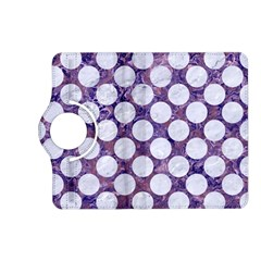 Circles2 White Marble & Purple Marble Kindle Fire Hd (2013) Flip 360 Case by trendistuff