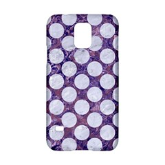 Circles2 White Marble & Purple Marble Samsung Galaxy S5 Hardshell Case