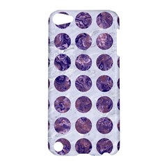 Circles1 White Marble & Purple Marble (r) Apple Ipod Touch 5 Hardshell Case by trendistuff