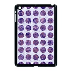 Circles1 White Marble & Purple Marble (r) Apple Ipad Mini Case (black) by trendistuff