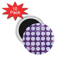 Circles1 White Marble & Purple Marble 1 75  Magnets (10 Pack)  by trendistuff