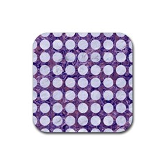 Circles1 White Marble & Purple Marble Rubber Square Coaster (4 Pack)  by trendistuff