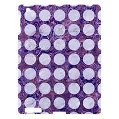 Circles1 White Marble & Purple Marble Apple Ipad 3/4 Hardshell Case by trendistuff