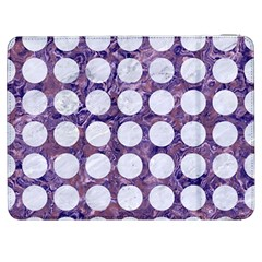 Circles1 White Marble & Purple Marble Samsung Galaxy Tab 7  P1000 Flip Case by trendistuff
