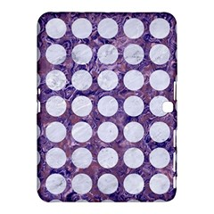 Circles1 White Marble & Purple Marble Samsung Galaxy Tab 4 (10 1 ) Hardshell Case  by trendistuff