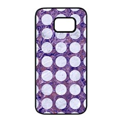 Circles1 White Marble & Purple Marble Samsung Galaxy S7 Edge Black Seamless Case
