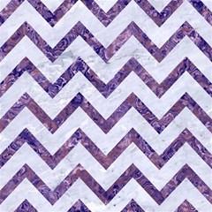 Chevron9 White Marble & Purple Marble (r) Magic Photo Cubes by trendistuff