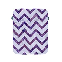 Chevron9 White Marble & Purple Marble (r) Apple Ipad 2/3/4 Protective Soft Cases by trendistuff