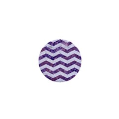 Chevron3 White Marble & Purple Marble 1  Mini Magnets by trendistuff