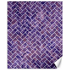 Brick2 White Marble & Purple Marble Canvas 16  X 20   by trendistuff