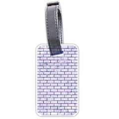 Brick1 White Marble & Purple Marble (r) Luggage Tags (two Sides) by trendistuff