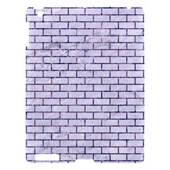 Brick1 White Marble & Purple Marble (r) Apple Ipad 3/4 Hardshell Case by trendistuff