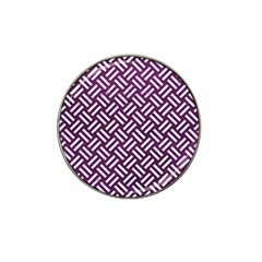 Woven2 White Marble & Purple Leather Hat Clip Ball Marker (10 Pack) by trendistuff