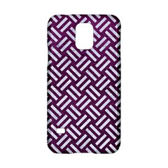 Woven2 White Marble & Purple Leather Samsung Galaxy S5 Hardshell Case  by trendistuff