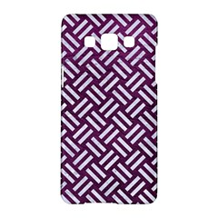 Woven2 White Marble & Purple Leather Samsung Galaxy A5 Hardshell Case  by trendistuff
