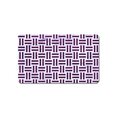 Woven1 White Marble & Purple Leather (r) Magnet (name Card) by trendistuff