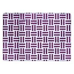 Woven1 White Marble & Purple Leather (r) Samsung Galaxy Tab 10 1  P7500 Flip Case by trendistuff