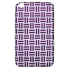 Woven1 White Marble & Purple Leather (r) Samsung Galaxy Tab 3 (8 ) T3100 Hardshell Case  by trendistuff