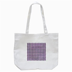 Woven1 White Marble & Purple Leather (r) Tote Bag (white) by trendistuff