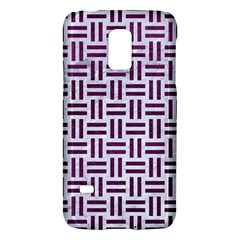 Woven1 White Marble & Purple Leather (r) Galaxy S5 Mini