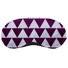 Triangle2 White Marble & Purple Leather Sleeping Masks by trendistuff
