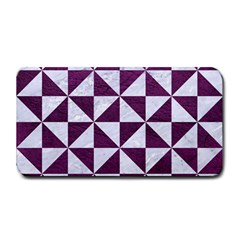 Triangle1 White Marble & Purple Leather Medium Bar Mats by trendistuff
