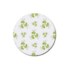 Photographic Floral Decorative Pattern Rubber Round Coaster (4 Pack)  by dflcprints