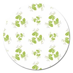Photographic Floral Decorative Pattern Magnet 5  (round) by dflcprints