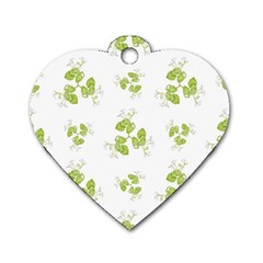 Photographic Floral Decorative Pattern Dog Tag Heart (one Side) by dflcprints