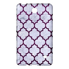 Tile1 White Marble & Purple Leather (r) Samsung Galaxy Tab 4 (8 ) Hardshell Case  by trendistuff