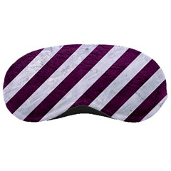 Stripes3 White Marble & Purple Leather (r) Sleeping Masks by trendistuff