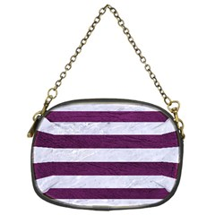 Stripes2white Marble & Purple Leather Chain Purses (one Side)  by trendistuff