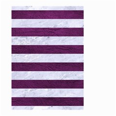 Stripes2white Marble & Purple Leather Small Garden Flag (two Sides) by trendistuff