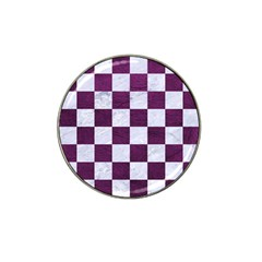 Square1 White Marble & Purple Leather Hat Clip Ball Marker (10 Pack) by trendistuff