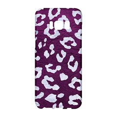 Skin5 White Marble & Purple Leather (r) Samsung Galaxy S8 Hardshell Case