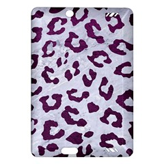 Skin5 White Marble & Purple Leather Amazon Kindle Fire Hd (2013) Hardshell Case by trendistuff